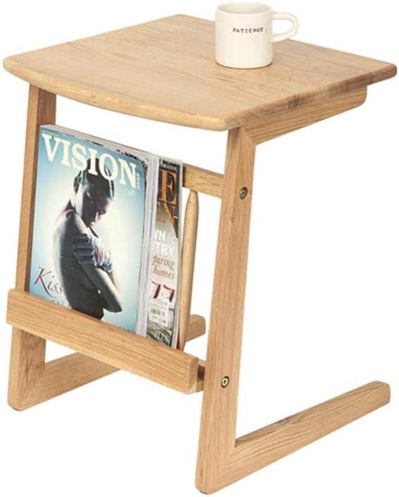 Z- 木製コ字型サイドテーブルエンドテーブル コーヒーテーブルジ ナイトスタンド,リビングルーム ベッド&ソファー家具 デスク (Color : B)