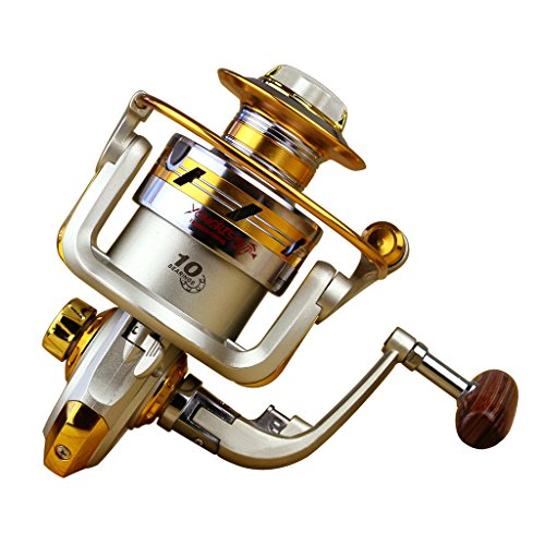 Happy Hours – Ultra Light High Speed Surf Saltwater Freshwater Fishing Spinning Reels With 10 Ball Bearings Gear Ratio 5.5:1, Line Capacity 0.15/200 0.18/180 0.20/150 (mm/m)