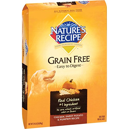 By Nature Chicken Dog Food (Nature's Recipe Grain Free Easy to Digest Dry Dog Food, Chicken, Sweet Potato & Pumpkin Recipe, 24-Pound)