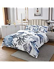 Beach Bedding Ocean Bedspread Sunset Hawaiian Palm Tree Waves Quilt Set Tropical Island and Sea Beach Nature Theme Print Coverlet, Kids Room Decorative 3 Piece Bed Cover with 2 Pillow Shams,Brown