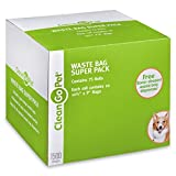 Clean Go Pet Dog Waste Bags, Super Pack, 75 Perforated Rolls, Total of 1500 Durable, Leakproof Poop Bags by Clean Go
