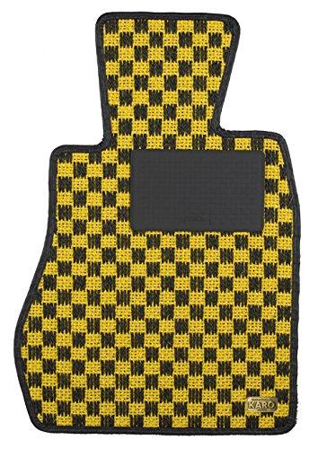 KARO(カロ) フロアマット SISAL イエロー/ブラック MCC smart スマートクーペ 1406(一台分) B00NUOQ5T8 SISAL×イエロー/ブラック SISAL×イエロー/ブラック