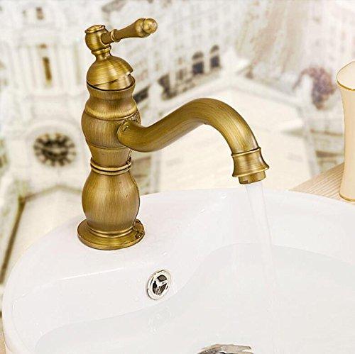 ANNTYE Waschtischarmatur Bad Mischbatterie Badarmatur Waschbecken Kupfer Schwenkbare Einhebelbedienung Warmes und kaltes Wasser 1 Bohrung Badezimmer Waschtischmischer
