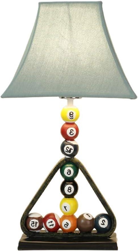 Lámpara De Mesa De Billar De Dibujos Animados De Estilo Americano Habitación Infantil Habitación De Niño Lámpara De Mesa De Noche Sala De Estar Estudio Lámpara De Mesa De Lectura, Interruptor De