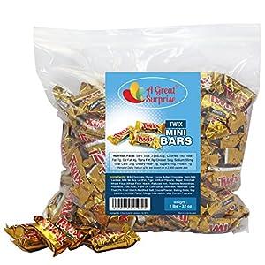 Twix Mini Caramel Chocolate Bars, 2 LB Bulk Candy