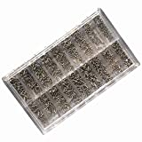 HOODDEAL 900pc Miniature Screw Assortment Eyeglasses Watches Jewelry Cell Phone Electronic Devices
