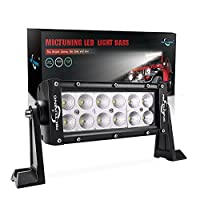 MICTUNING 7.5 Inch 36W Flood Led Light Bar - 2500 Lumen, 6000-6200K Crystal White, Waterproof for Off-road Jeep ATV UTV SUV Truck Boat