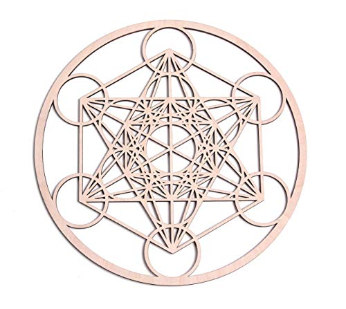 (Fourth Level Manufacturing 12 inch Metatron Cube Wooden Wall Art Home Decor Sacred Geometry)