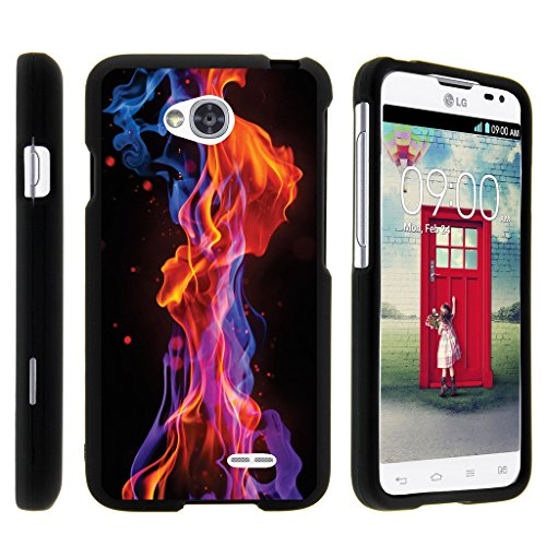 Design Rubberized Hard Case (Miniturtle® [LG Optimus L70 Case, Ultimate 2 Case, Optimus Exceed 2 Black Case][Snap Shell] 2 Piece Design Case, Perfect Fit Hard Rubberized Protector - Purple Red)