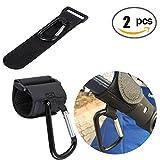 Baby Stroller Hooks - 2 Pack of Multi Purpose Hooks,Black Stroller Hook Set for Mommy