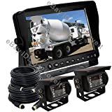 "REAR VIEW CAMERA REVERSING SYSTEM KIT 9"" TFT LCD MONITOR + 2 CCD IR BACKUP CAMERAS"
