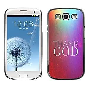 YOYO Slim PC / Aluminium Case Cover Armor Shell Portection //THANK GOD //Samsung Galaxy S3