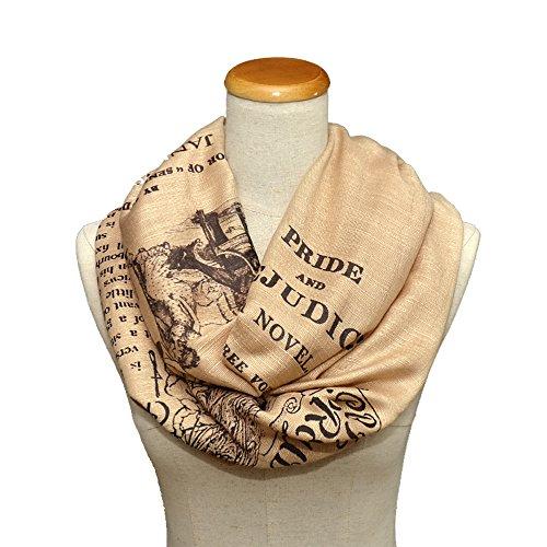 Pride and Prejudice by Jane Austen Shawl Scarf Wrap (Beige)