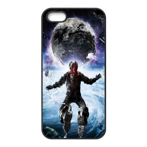 Dead Space coque iPhone 5 5S cellulaire cas coque de téléphone cas téléphone cellulaire noir couvercle EOKXLLNCD23112