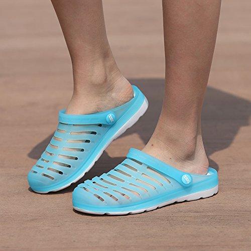Xing Lin Sandalias De Hombre Los Hombres Del Agujero De Verano Zapatos Zapatillas Zapatillas De Playa Mujeres Transpirable Tendencia Mitad Zapatillas Par Sandalias De Gran Tamaño LAN