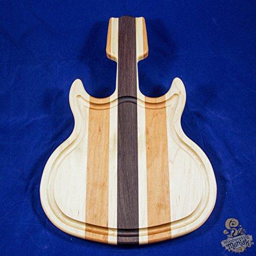 Walnut, Maple & Cherry Guitar Cutting Board