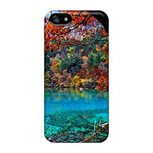 Iphone 5/5s Hard Back With Bumper Cases Covers Crystal Lake