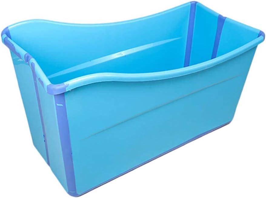 大人用浴槽ポータブル折りたたみ式浴槽、赤ちゃん用浴槽、家庭用大型浴槽折りたたみシャワートレイ、快適な折りたたみ式大人用浴槽、2色、98 * 50 * 56 cm(色:青)