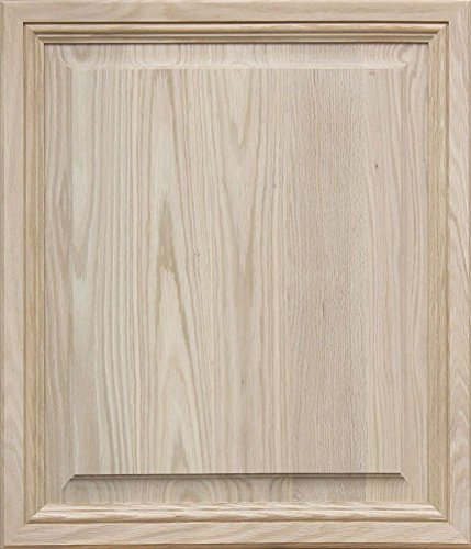 Unfinished Oak, Mitered Raised Panel Cabinet Door by Kendor, 28H x 24W by Kendor