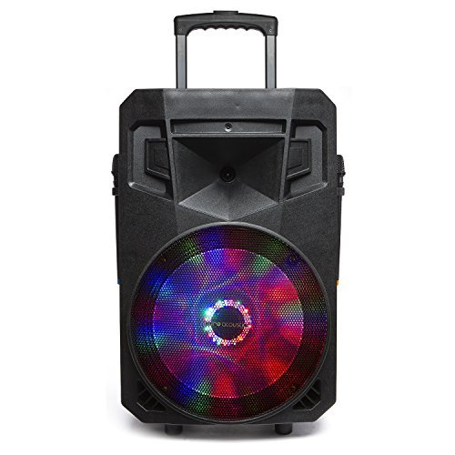 PA System with LED Party Lights, Wireless Portable Bluetooth Audio Speaker with 2 Wireless Microphones FM Radio Party Karaoke Machine Sound System MCP-75 Suono Soundstream by Pure Acoustics