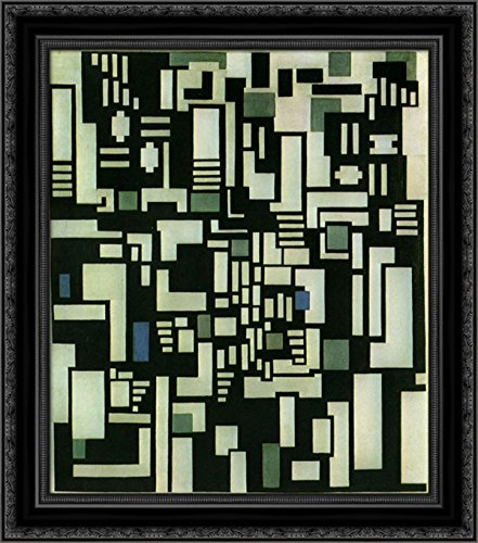 Composition IX, Opus 18, 1917 24x20 Black Ornate Wood Framed Canvas Art by Theo Van Doesburg ()