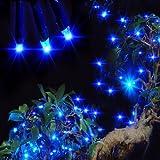 Signstek 55.8FT 200 LED Waterproof Light-White Solar String Powered String Light for Outdoor Garden Christmas Wedding Party*Blue*