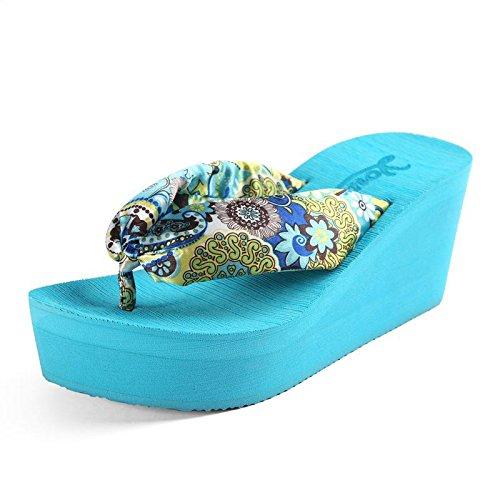 o blue gruesas muffin de chanclas suelas sandalias Pendiente con 1YqnB