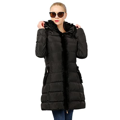 Sentao Chaqueta de invierno acolchada para Mujer Invierno Abrigo con Capucha Manga Larga Jacket Outw...