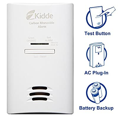 Kidde KNCOB-DP2 Tamper Resistant Plug-in Carbon Monoxide Alarm with Battery Backup