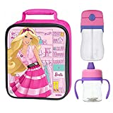 Thermos Lunch Kit w/ Sippy Cup Drink Bottle (Barbies 8oz & 11oz)