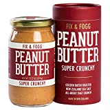 vegan butter extract - Fix & Fogg Super Crunchy Peanut Butter (13.2 oz) All Natural, Handmade, Vegan, Extra Chunky, Golden Roasted With Glass Jar and Beautifully Designed Cardboard Gift Canister.
