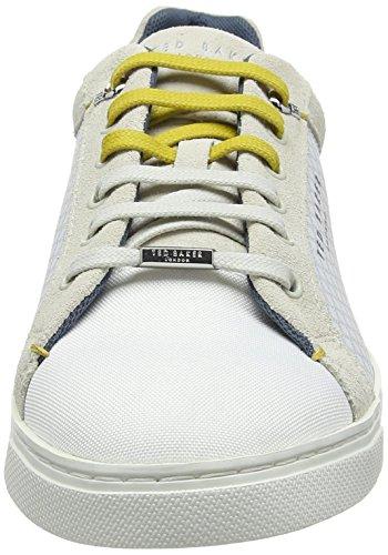 Ted Baker Sarpio, Sneaker Uomo Bianco (White #Ffffff)