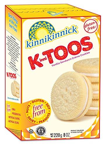 Coconut Macadamia Nut Cookies - KinniToos Gluten Free Cookies, Vanilla Sandwich Creme, 8 Ounce (Pack of 6)