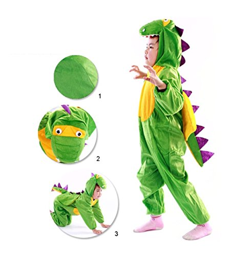 Children Party Costume Cartoon t-rex Costume Funny Clothes Performance Kids Dinosaur Cosplay Costume (M(Height 35.4''-41.3''/90cm-105cm), Dinosaur) by YOWESHOP (Image #1)