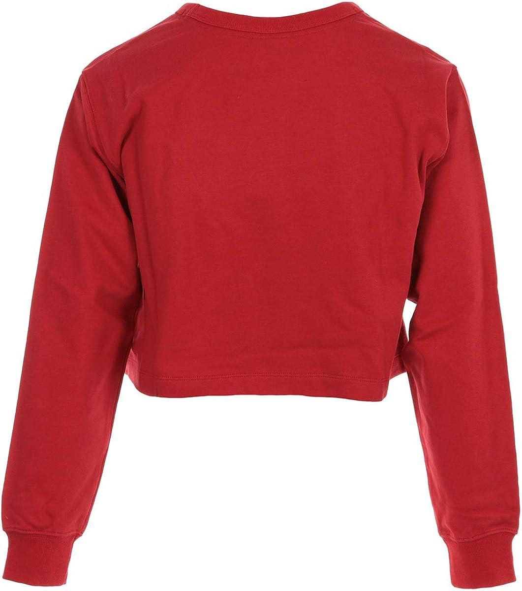 Champion Crewneck Croptop WN's, Sweatshirt Rot