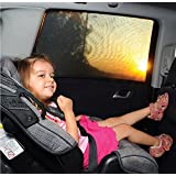 Baby Car Sun Shades Window Sox Universal Fit Car Side Window Sun Shade (Pack of 2)