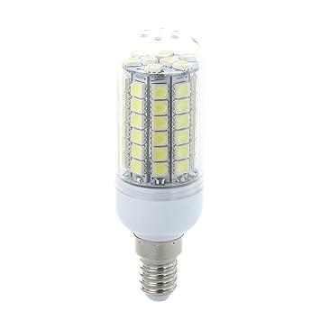 SODIAL(R) 10 x E14 Bombilla Lampara Foco 69 LED 5050 SMD 8W 6500K AC220V Luz Blanco: Amazon.es: Hogar