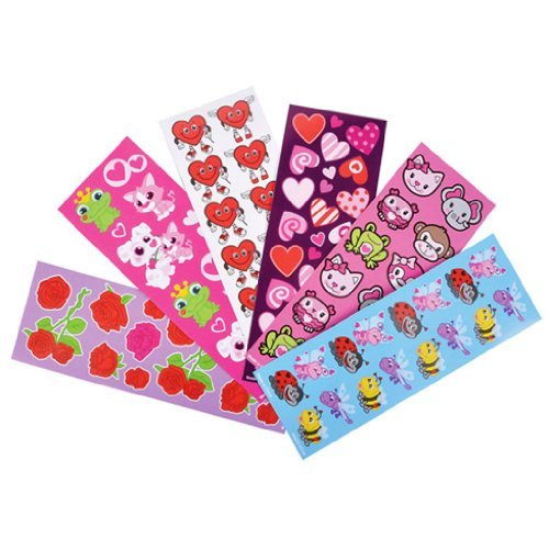 Valentine Sticker Assortment (100 Sheets Per Order)]()