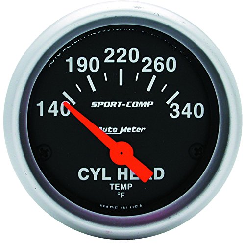 Auto Meter 3336 Sport-Comp Electric Cylinder Head Temperature Gauge