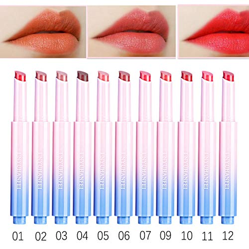AfterSo Lipstick Ladies Beauty Makeup Waterproof Sexy Hydrating Long Lasting Lip Gloss Lipstick red (red, H)