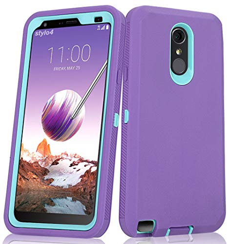 LG Stylo 4 Plus Case, Hybrid High Impact Resistant Rugged Full-Body Shockproof Tri-Layer Heavy Duty Case with Built-in Screen Protector for LG Stylo 4/ LG Stylo 4 Plus -