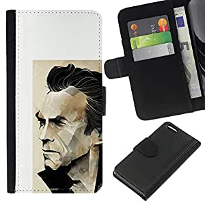 KLONGSHOP // Tirón de la caja Cartera de cuero con ranuras para tarjetas - Arnold película de acción del personaje - Apple Iphone 5C //