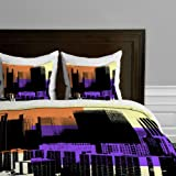 DENY Designs  Amy Smith Skyline Duvet Cover, Queen