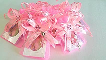 Amazon.com: Rosa para niña. Bautismo favores 12 piezas ...