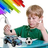 3D Printing Pen for 3D Modeling 3D Pen 3D Drawing Printing Pen/for Kids Adults Arts Crafts DIY Education Bonus 2 Free 1.75mm PCL Filament White