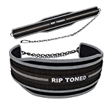 Rip Toned Dip Belt By 6' Weight Lifting Pull Up Belt With 32' Heavy Duty Steel Chain & Bonus Ebook - For Powerlifting, Xfit, Bodybuilding, Strength & Training - Lifetime Replacement Warranty
