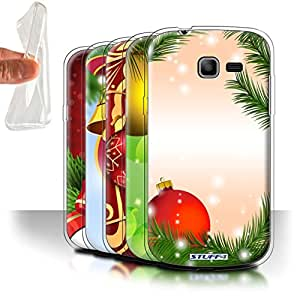 STUFF4 Gel TPU Phone Case / Cover for Samsung Galaxy Fresh Duos/S7392 / Pack 9pcs / Christmas Decorations Collection