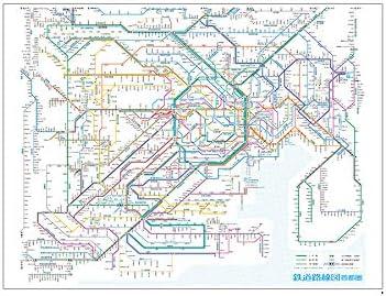 Amazon.co.jp: 鉄道路線図 レジャーシート 首都圏 日本語 RLSJ: おもちゃ