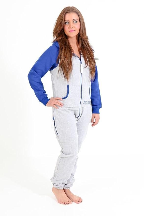 Juicy Trendz Diseñador Señoras Mujeres Uno Cremall Onesie Capucha ...