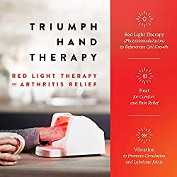 Triumph LTD 880nm Infrared and 660nm Red Light Hand Therapy with Warming Vibration Massage for Hand Arthritis, Joint and Muscle Pain Relief, Photobiomodulation Device